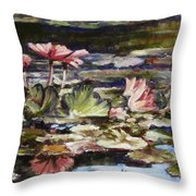 Waterlilies Tower Grove Park Throw Pillow