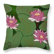 Waterlillies Throw Pillow