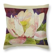 Waterlily Collage Throw Pillow