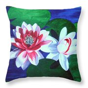 Waterlily Dance Throw Pillow