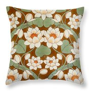 Waterlily Ogee Throw Pillow
