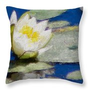 Waterlily Reflections Throw Pillow