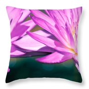 Waterlily Twins Throw Pillow by Priya Ghose