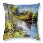 Waterline Throw Pillow