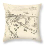 Waterloo Bridge Throw Pillow