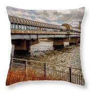 Waterloo Iowa Bridge Throw Pillow
