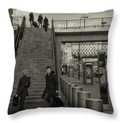 Waterloo Steps Throw Pillow