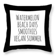 Watermelon, Beach Days Smoothies Throw Pillow