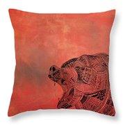 Watermelon Bear Throw Pillow