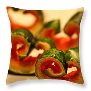 Watermelon Curls Still Life Throw Pillow