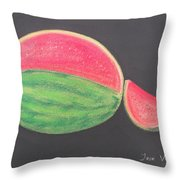 Watermelon Throw Pillow by M Valeriano