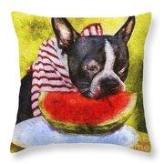 Watermelon Lunch Throw Pillow