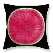Watermelon Radish Throw Pillow