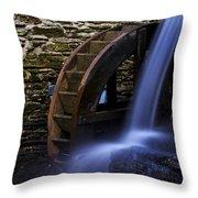 Watermill Wheel Throw Pillow