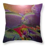 Waters Abound Throw Pillow