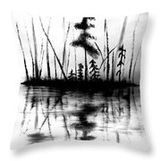 Waters Edge Throw Pillow by Denise Tomasura