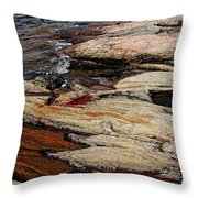 Water's Edge - Wreck Island Throw Pillow