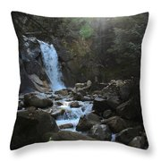 Waters Falling Throw Pillow
