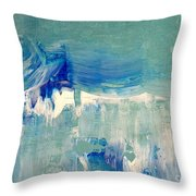 Water's Flow Throw Pillow by KR Moehr