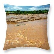 Waters Of Thwake Throw Pillow