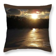Watershed Sunset Throw Pillow