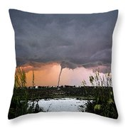 Waterspout Over Pass A Grill Throw Pillow