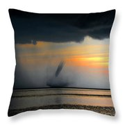 Waterspout Panoramic Throw Pillow