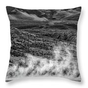 Waterspouts On Viedma Lake - Patagonia Throw Pillow