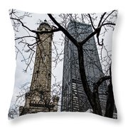 Watertower Chicago Throw Pillow