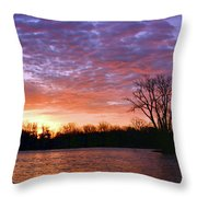 Waterville Sunrise Panorama 0002 0003 Signed Throw Pillow