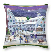 Waterville Valley At Wintertime Throw Pillow