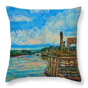Waterway Near Pawleys Island Throw Pillow