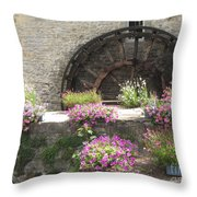 Waterwheel In Bayeux Throw Pillow