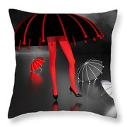 Waterworld At Night Throw Pillow