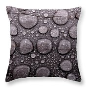 Watery Beads Throw Pillow