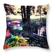 Watery Oasis Throw Pillow