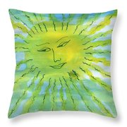 Watery Sunshine Throw Pillow