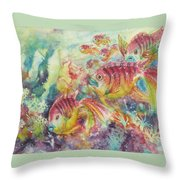 Watery World 2 Throw Pillow