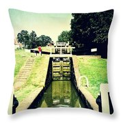 10945 Watford Locks On The Grand Union Canal Throw Pillow