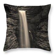 Watkins Glen Cavern Cascade #5 Throw Pillow