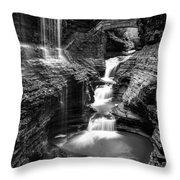 Watkins Glen Rainbow Falls #2 Throw Pillow