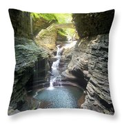 Watkins Glen State Park Throw Pillow