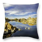 Watson Lake Panoramic 30x12 Throw Pillow