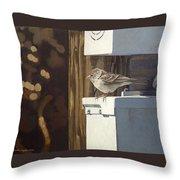 Watt A Bird Throw Pillow