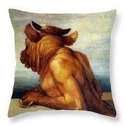 Watts: The Minotaur Throw Pillow