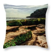 Watu Leter Beach Throw Pillow