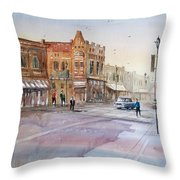 Waupaca - Main Street Throw Pillow