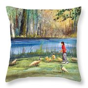 Wautoma Mill Pond Throw Pillow