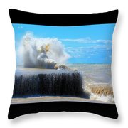 Wave Baby Throw Pillow