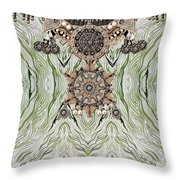 Wave And Jewels Throw Pillow